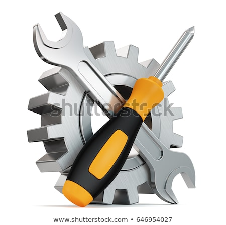 Repair And Maintenance - Mechanism of Metallic Cogwheels . 3D . Stock photo © tashatuvango