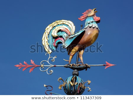 Weather vane in the form of a cock stock photo © borisb17