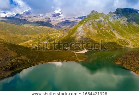 Mountain landscape view from above Stock photo © vapi