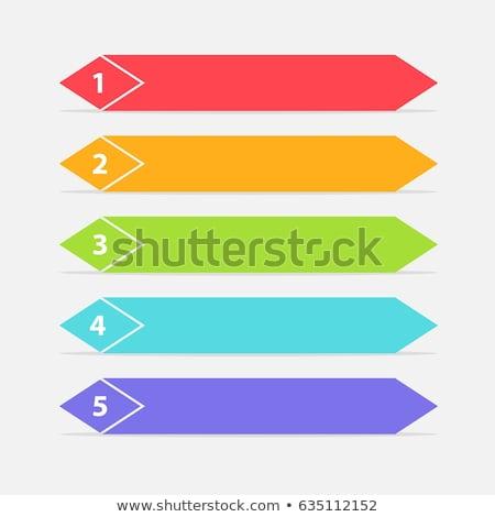 Infografika szám kék elrendezés diagram körkörös Stock fotó © kyryloff