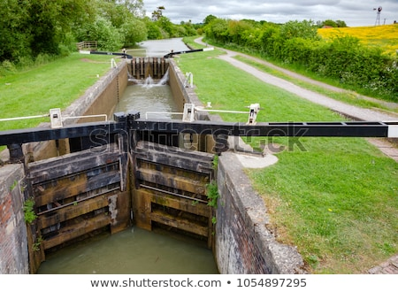 Canal with lock gate Stock photo © Kzenon