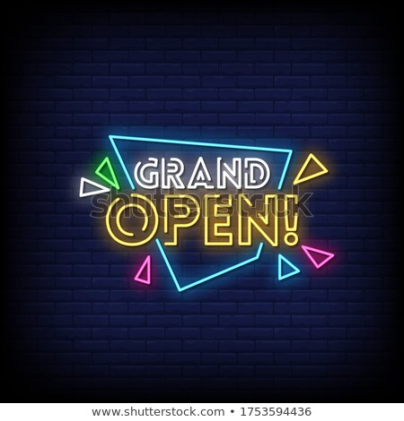 neon style grand opening banner design background Stock photo © SArts