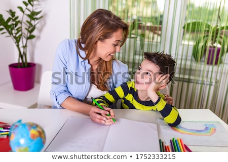 2 draw colour children adult level stock photo © olena