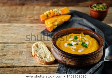 ブリュッセル · クリーム · スープ · 野菜 · スパイス · ボウル - ストックフォト © fanfo