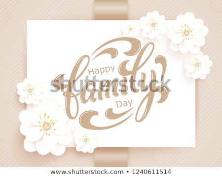Family Day text. lettering phrase for greeting card, invitation, banner, postcard, web, poster templ Stock photo © masay256