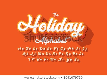 Holiday Font Letter I Isolated Stock photo © Lightsource