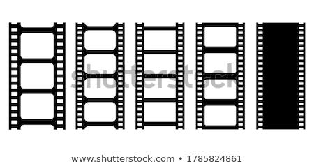 Film strip cinema proiettore in bianco e nero vettore Foto d'archivio © pikepicture