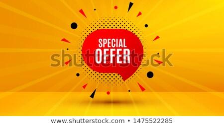 Black friday sprzedaży czat bańki projektu sklep czarny Zdjęcia stock © SArts