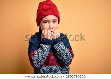Little boy with a challenging look Stock photo © rcarner