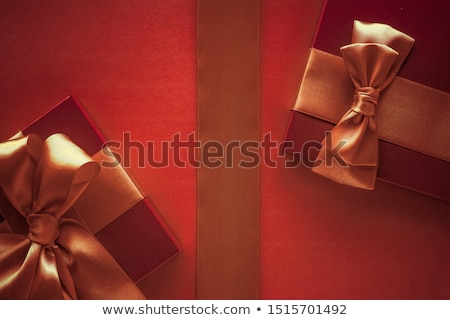 Bağbozumu lüks tatil turuncu hediye kutusu ipek Stok fotoğraf © Anneleven