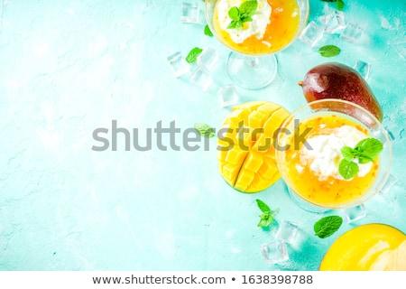 Coconut Margarita cocktail with ice cream Stock photo © furmanphoto