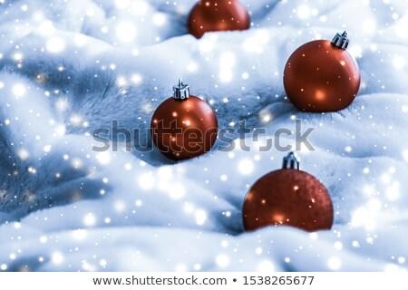 Bronzen christmas Blauw pluizig bont Stockfoto © Anneleven