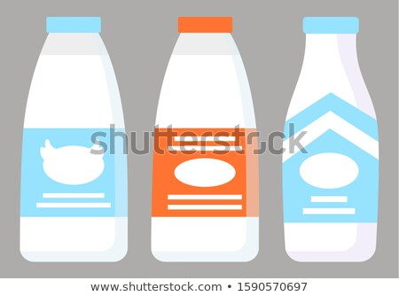 Dairy Products Like Milk and Yogurt, Kefir in Shop Stock photo © robuart