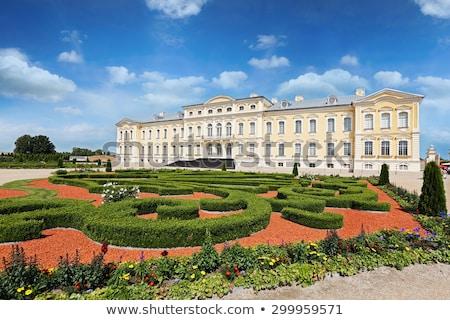 Palacio Letonia barroco jardín cielo viaje Foto stock © borisb17