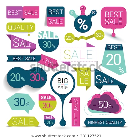 Big Sale, Advertising Label with Promotion Caption Stock photo © robuart