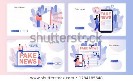 Fake news concept landing page Stock photo © RAStudio