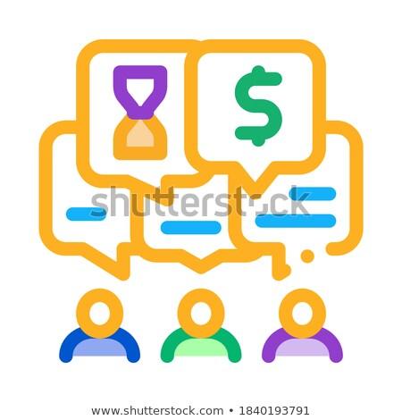 Verschillend waarden mensen icon vector schets Stockfoto © pikepicture