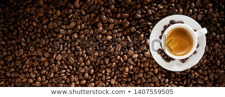 Hot freshly brewed espresso coffee Stock photo © grafvision