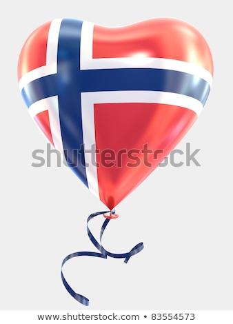 Bandeira Noruega forma coração amor Foto stock © butenkow