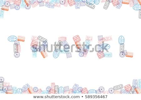 Immigratie woord reizen witte papier Stockfoto © evgeny89