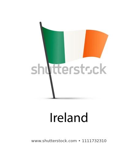 İrlanda bayrak kutup beyaz Stok fotoğraf © evgeny89