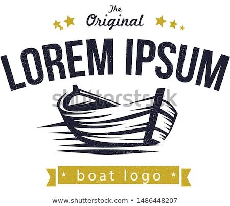 Roeien boot isometrische icon vector teken Stockfoto © pikepicture
