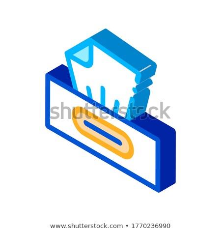 Trocken Paket Symbol Vektor Zeichen Stock foto © pikepicture