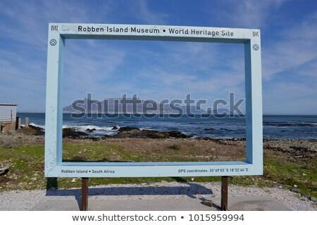 Cape Town znak autostrady zielone Chmura ulicy podpisania Zdjęcia stock © kbuntu