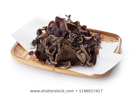 Comestível cogumelo madeira secar folha Foto stock © RuslanOmega
