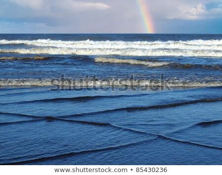 Fala plaży krajobraz tle ocean niebieski Zdjęcia stock © morrbyte
