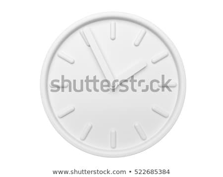 Fehér óra időzítő piros kapcsoló fekete Stock fotó © gewoldi