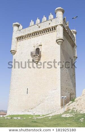 castle of belmonte de campos castile and leon spain stock photo © phbcz