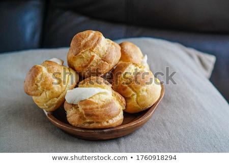 Chleba ciasto tablicy stół kuchenny śniadanie jedzenie Zdjęcia stock © stevanovicigor