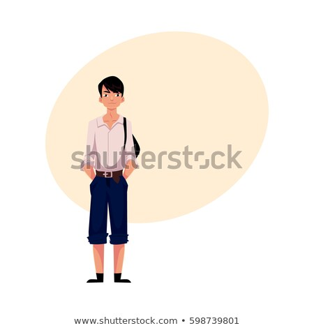 Typical school boy stands in uniform Stock photo © lovleah