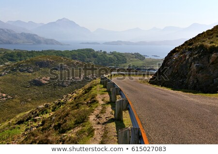 lonely road at loch in scotland Stock photo © gewoldi
