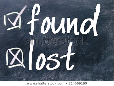 lost and found check boxes stock photo © bbbar