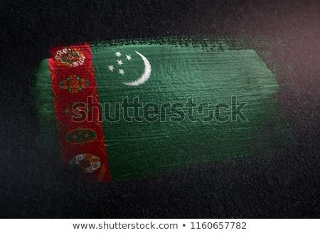 Grunge vlag Turkmenistan oude vintage grunge textuur Stockfoto © HypnoCreative