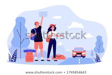 Hitchhiking Stock photo © cynoclub