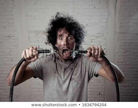 man getting an electrical shock stock photo © photography33