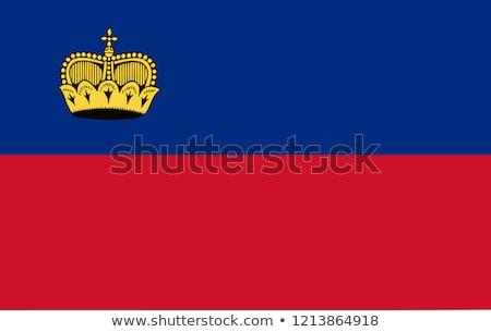 Flag of Liechtenstein Stock photo © creisinger