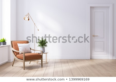 Stock photo: Leather Armchairs And Sofa In Interior Of Modern Room