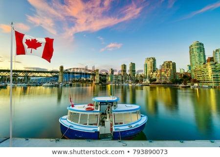 vancouver bc skyline and burrard bridge panorama stock photo © davidgn