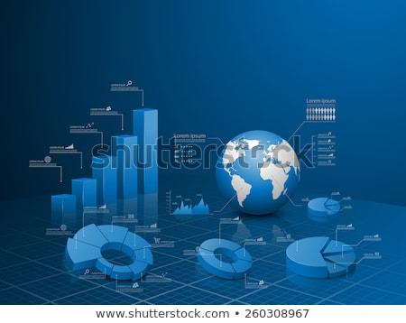 бизнес-графика · 3D · знак · Финансы · графических · финансовых - Сток-фото © 4designersart