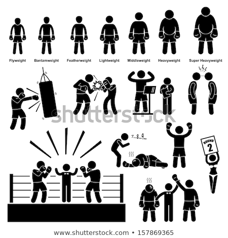 Boxing Pictogram Stock photo © zooco