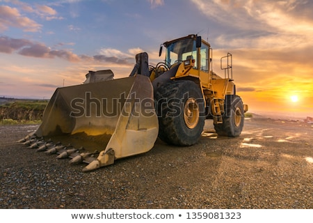 yellow quarry digger Stock photo © prill
