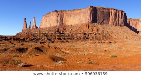 The Three Sisters and Mitchell Mesa, Monument Valley National Pa Stock photo © phbcz