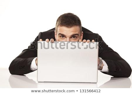 Man hiding behind his laptop Stock photo © photography33