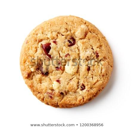 chocolade · cookies · plaat · glas · melk - stockfoto © stephaniefrey