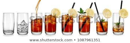 contraste · martini · um · oliva · preto · e · branco · fundo - foto stock © grafvision