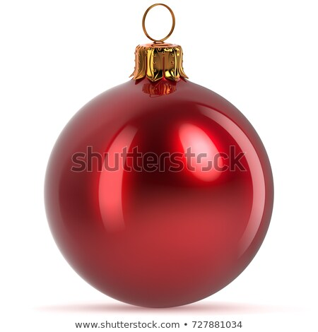 christmas shiny red bauble stock photo © milsiart